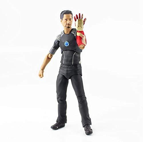 GSDGSD Iron Man Actionfigur Rächer Tony Stark Gepanzert SHF Tonys Powered Stage Model Spielzeug