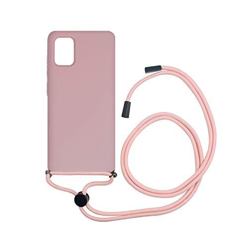 Muvit Life - Custodia per Samsung Galaxy A51 con ciondolo rosa cnady