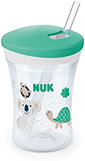 NUK Evolution Straw Cup, 8 oz, 1-Pack, White