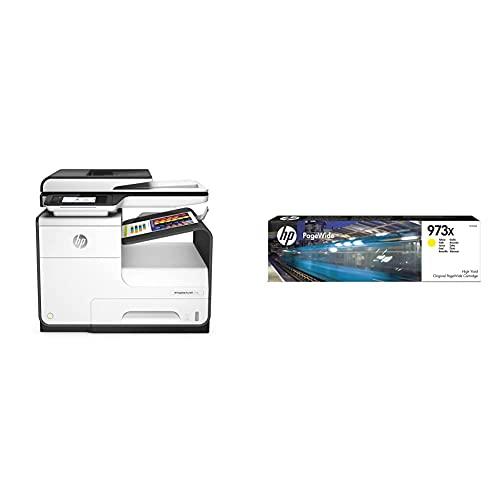 Hp Pagewide Pro 477Dw MFP Impresora Inyección De Tinta, Multifunción, Blanca + 973X F6T83Ae, Amarillo, Cartucho De Tinta De Alta Capacidad Pagewide Original