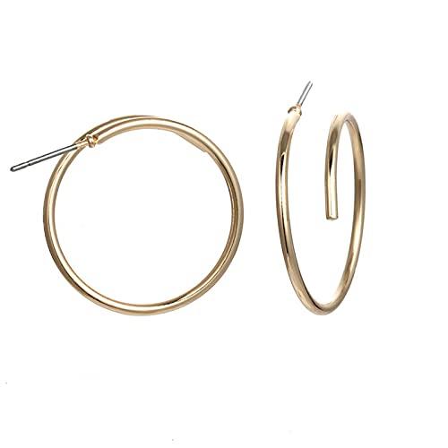 1 pieza de pendientes para mujer minimalista Matel con forma redonda