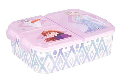 Kinder Brotdose / Lunchbox / Sandwichbox wählbar: Frozen PJ Masks Spiderman Avengers - Mickey – Paw aus Kunststoff BPA frei - tolles Geschenk für Kinder (Frozen II Eiskönigin)