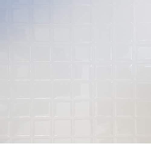 ELIKO - Azulejos adhesivos impermeables de 30,5 x 25 cm, cuadrados blancos