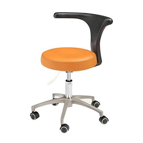 Silla móvil del dentista del cuero de la microfibra con la silla del escritorio de la oficina del respaldo HS-2