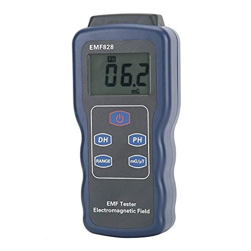 SLL Medidor de Fuerza de Campo magnético, medidor de Campo magnético de Pantalla LCD portátil, para Audio de TV? Equipo Visual Pantalla de Pantalla Cable de alimentación Herramienta