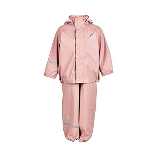 CeLaVi Baby - Mädchen CeLaVi zweiteiliger Regenanzug in vielen Farben Regenjacke,,per pack Rosa (Misty Rose 524),(Herstellergröße:80)