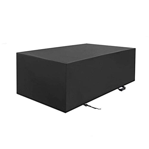 WJSWA Rectangular Black Furniture Cover, Dust Proof Protective Covers Outdoor Patio Chair Table Daybed Sofa Waterproof Anti-Fading (Size : 242x162x100cm)