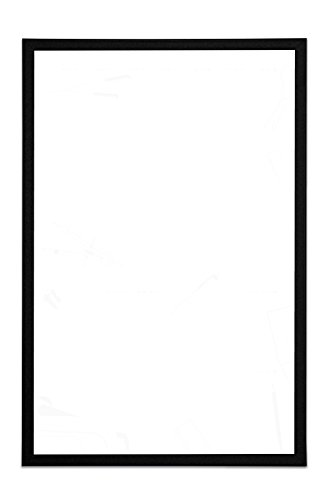 Bi-Office - Pizarra blanca magnética, Marco en MDF negro, 40 x 30 cm