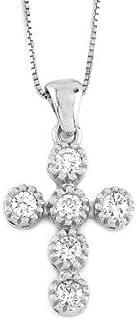 Gems&Gold srl Pendente in oro bianco 18kt con diamanti