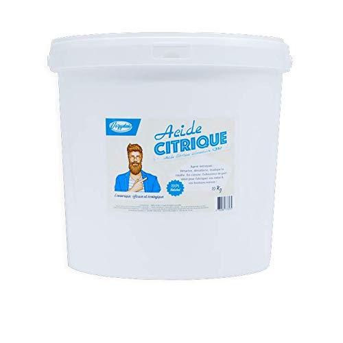VOZYDEO – Acido citrico, 10 kg, prodotto da casa indispensabile, multiuso, alimentare E330, pulisce, disinfetta, disincrosta, elimina le macchie – naturale e biodegradabile, non tossico