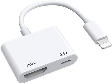 HDMI Adapter for iPhone to TV 1080P Digital AV Adapter for iPhone iPad iPod Sync Screen Connector product image