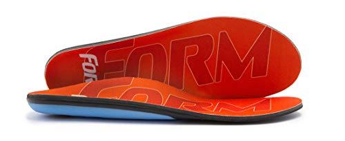 FORM Premium Insoles Reinforced | Orange Men's 9 - 9.5, Women's 10.5 - 11