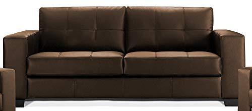 Sedex Madelaine Designercouch/Polstergarnitur / Polstercouch/Couch 3-Sitzer Kunstleder braun