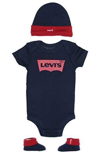 Levi's Kids CLASSIC BATWING INFANT HAT, BODYSUIT, BOOTIE SET 3PC 0019 Baby- und Kleinkind-Babyausstattung - Baby - Jungen Dress Blues 0-6 Monate