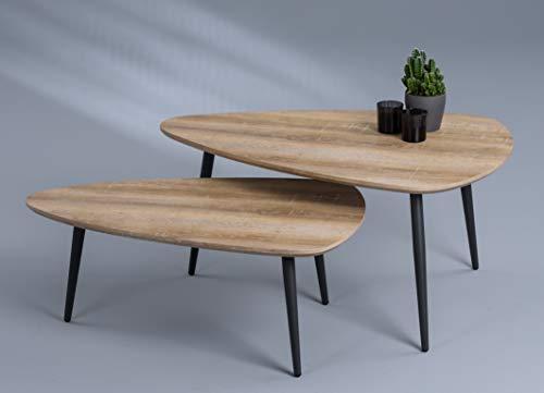 HomeTrends4You Luka Tavolino da Salotto/Divano, MDF, Rovere Marrone, 100x46x70cm