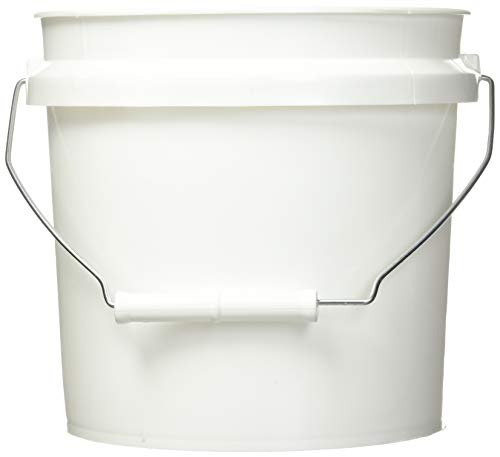 Leaktite 744456 1-Gallon White Plastic Pail Paint Pail/Container