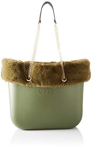 O bag Damen Borsa Completa Obag 09 Tote, Grün (Military), 14x31x39 Centimeters
