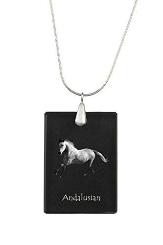 ArtDog Ltd. Andalusischen, Pferd Kristall Anhänger, Silver Halskette 925, hohe Qualität