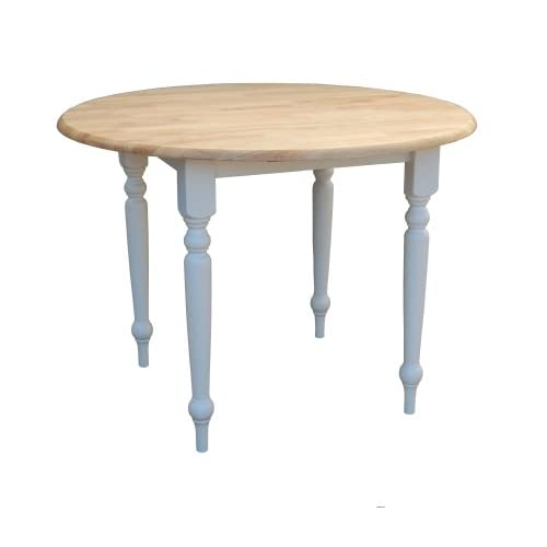 Round Rustic Dining Table Amazoncom