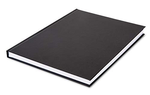 Honsell Quaderno per Schizzi, Formato DIN A4 Verticale, 96 Fogli, 110 g/m², rilegato in Copertina Rigida, Carta da Disegno Puro, cancellazione, Senza acidi e Resistente all'invecchiamento, Nero/Bianco