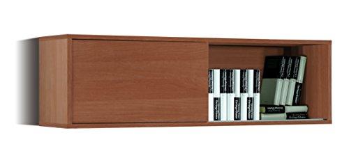 Abitti Estante, estanteria aerea o modulo aerero Color Cerezo para despacho, Oficina o Comedor 34x109x33 cm