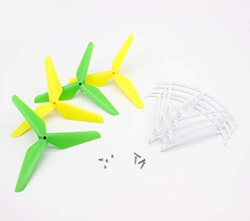 Hong Yi For SYMA X5c X5sc X5sw RC Quadcopter Drone actualización de Palas de la hélice + Protectores de Piezas de Repuesto Aviones no tripulados de Piezas de Repuesto (Color : White)