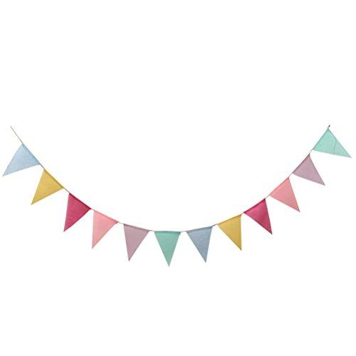 LUOEM Wimpelkette Wimpel Banner Dekoration für Hochzeit Geburtstagsfeier