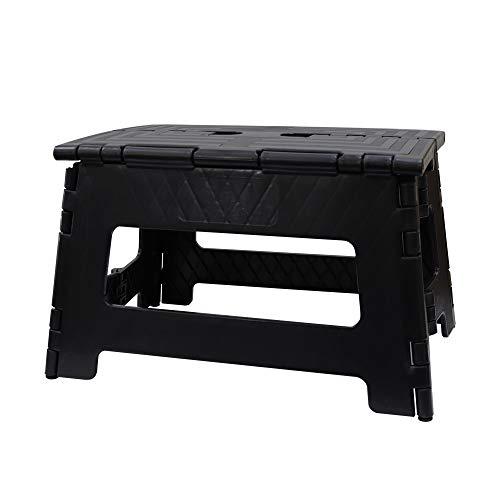 Mサイズ 踏み台 折りたたみ ステップ スツール 脚立 椅子 子供 大人 (ブラック)