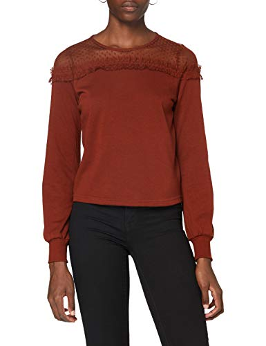 Only Onlrolling Stones Life Hood L//S Box Swt Jersey para Mujer