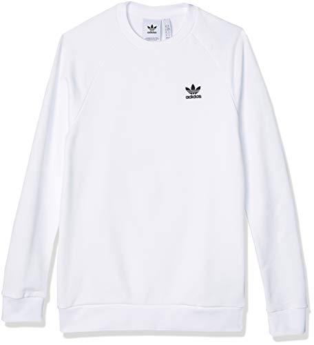 adidas Herren Essential Crew Pullover, White/Black, M