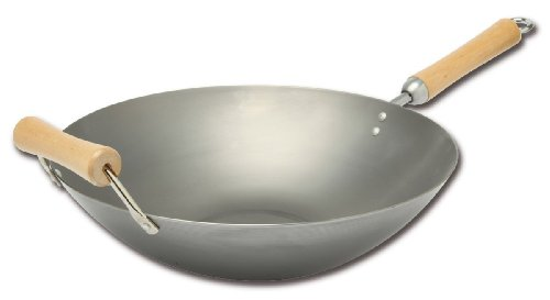 Joyce Chen 21-9978, Classic Series Carbon Steel Wok, 14-inch