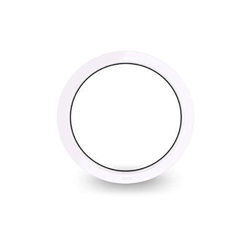 Rundfenster – Bullauge – Festverglasung (FiB) - Durchmesser: 82cm – weiß - 60 mm Profil – 2-Fach-Verglasung