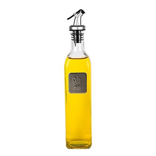 ZNYB Huiliers et vinaigriers Bouteille d'huile en Verre Ensemble de bocaux d'assaisonnement à la Sauce soja et au vinaigre Bouteille d'huile Transparente Anti-poussière