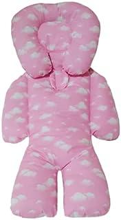 Almofada Protetora Redutor de Bebê Nuvem Rosa com branco