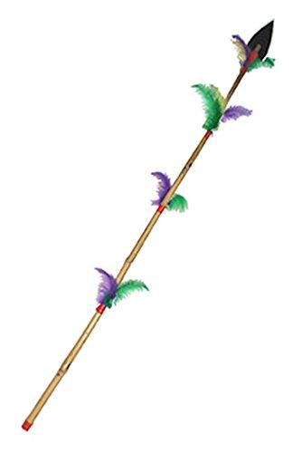 Fancy Ole – Jouet Lance indien Costume Indien Costume d'Armes avec plumes Bambou Multicolore