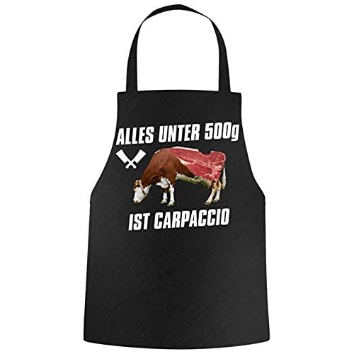 Grillschürze Sprüche Alles unter 500g ist Carpaccio