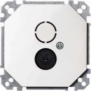 Merten 295219 Lautsprecher-Steckdosen-Einsatz, polarweiß, OCTOCOLOR