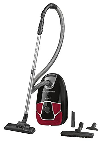 Rowenta Silence Force Allergy+ -Aspiradora con Bolsa silenciosa, Capacidad XL 4,5 l, Accesorios para el hogar RO6859EA, Material del Tubo: Metal, Negro y Rojo