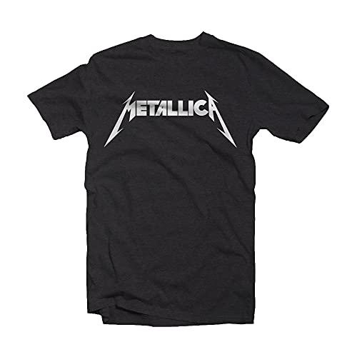 Amplified Metallica Logo Girocollo Nero T-Shirt - Grigio - XL
