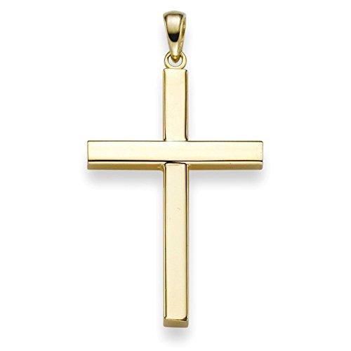 Anhänger Kreuz 38x20,5mm aus 750 Gold Gelbgold Halsschmuck schlicht