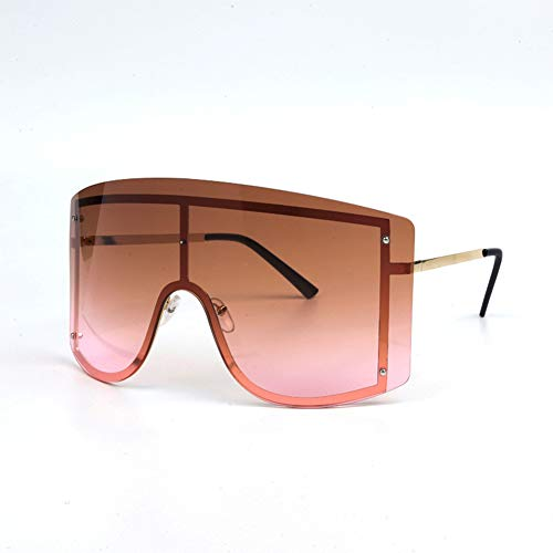 DishyKooker Gafas de sol para hombres y mujeres, grandes, sin marco, para...