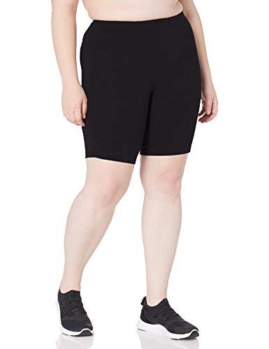 Rainbeau Curves Women's Plus Size Basix Compression Bike Short, Black, 26/28
