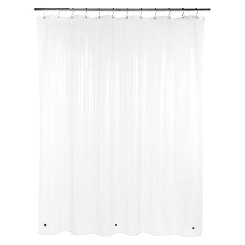 Amazon Basics – PEVA-Duschvorhang mittelschwer, klar, 183 x 183 cm