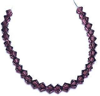 30PK Amethyst Swarovski Crystal Bicone 4mm Bead 5301 Crafting Key Chain Bracelet Necklace Jewelry Accessories Pendants