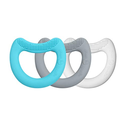 Green Sprouts - Premiers jouets-dentition en silicone - Azul Gris Blanc