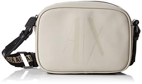 ARMANI EXCHANGE Small Crossbody Bag - Borse a tracolla Donna, Marrone (Beige), 13x6.5x18 cm (B x H T)