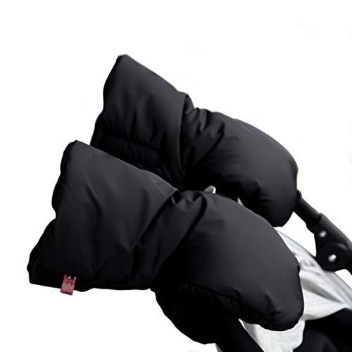 jiele cochecitode mano para bebé, bebé carrito/guantes/mango de calentador de guantes de invierno de grosor guantes de forro polar resistente al agua, Anticongelante guantes mano bebé cochecito