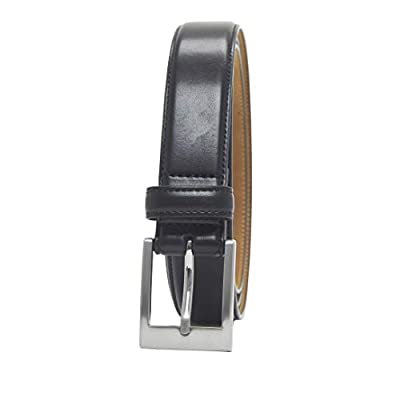Amazon Essentials Men's Classic Dress Belt, Black, 44