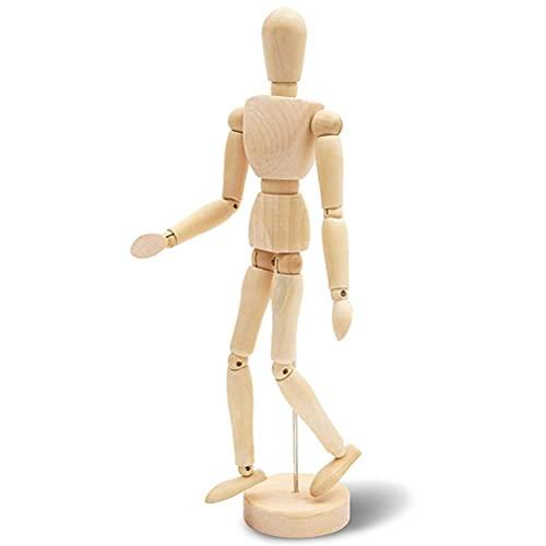 FreshWater Adornos modelo creativo, estatuas de decoración del hogar, modelo de estatua artesanal, articulaciones movibles maniquí de madera para mesita de noche