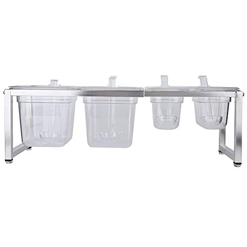 Tarro de especias, caja de condimentos de acrílico transparente Recipiente de especias de acrílico Ollas de especias transparentes independientes para cocina/Camping